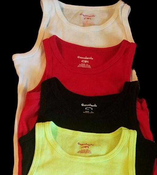 170c9afa3 Garanimals Shirts & Tops | Lot Of Four4 Little Girls Solid Ribbed ...